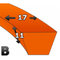 Pas klinowy  B51 (1300) GATES