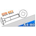 Śruba DIN 603 M6x35 A4 stal kwasoodporna