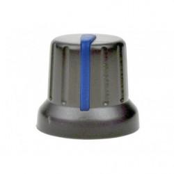 Gałka N-4 szara, znacznik niebieski 6mm