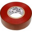 Taśma elektroizolacyjna 19mmx20mx0.13mm czerwona