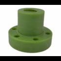 Nakrętka trapezowa 16x4 poliamid zielony Z/K