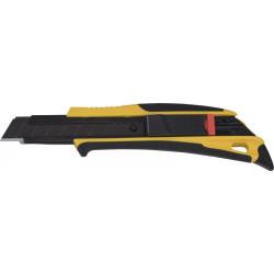 Nóż z łamanym ostrzem 18mm czarny z płetwą TAJIMA