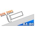 Wkręt do metalu DIN 7985 M5x16 stal kwasoodporna