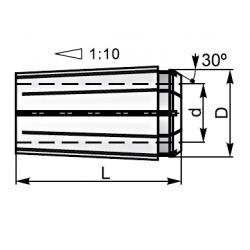 Tuleja zaciskowe E016D13