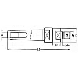 Trzpień do frezów MK4.D18.M16