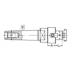 Trzpień frezarski MK3.A25.D27S