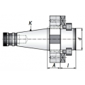 Trzpień frezarski ISO40.A30.D60DF