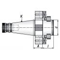 Trzpień frezarski ISO40.A30.D50DF