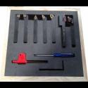 Zestaw 7 noży tokarskich składanych(1wytaczak)10mm