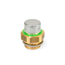 Zawór odpowietrzający GN 881-M18x1.5-200-MS-M