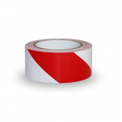 Taśma ostrzegawcza biało-czerwona 120 mm x 100 m