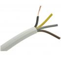 Przewód prądowy H05VV-F (OWYo) 4x1,50mm2 linka Cu biały okrągły PVC 8,9mm 300/500V
