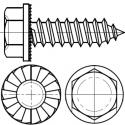 Blachowkręt 6-kt ząbk. ST 6.3x16 oc.B ISO 7053
