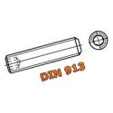 Wkręt dociskowy DIN 913 M10x1,25x16 gw. drobnozw.