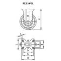 Zestaw kołowy RE.E3-125-PBL