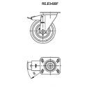 Zestaw kołowy RE.E3-125-SBF