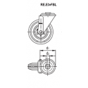 Zestaw kołowy RE.E3-125-FBL