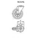 Zestaw kołowy RE.E3-150-FBL