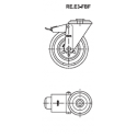 Zestaw kołowy RE.E3-125-FBF