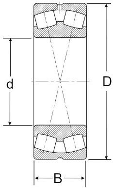 Łożyska baryłkowe - rysunek techniczny