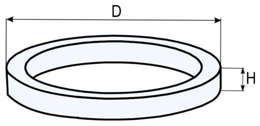 Pierścienie ustalające - rysunek techniczny