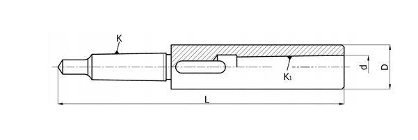 Tuleja redukcyjna przedłużana z płetwą 170 5/4 - rysunek techniczny