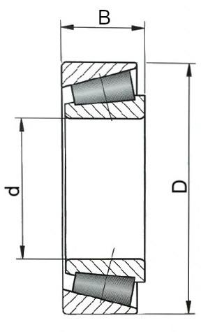 Łożyska stożkowe - rysunek techniczny