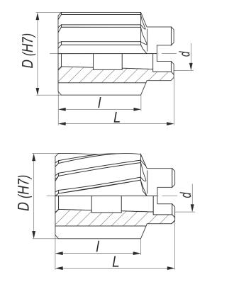Rozwiertaki maszynowe DIN 219-A, B - rysunek techniczny