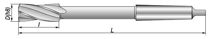 Rozwiertaki maszynowe NRTa - rysunek techniczny