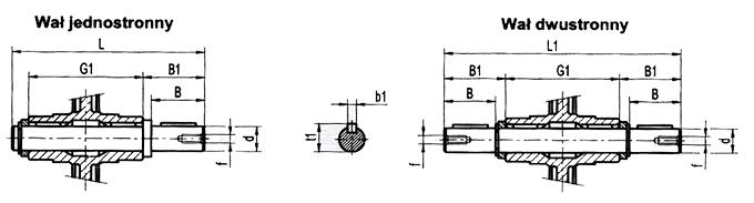 Wałek zdawczy - rysunek techniczny