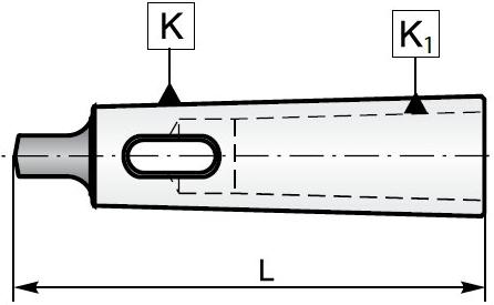 Redukcje ze stożkiem Morsea TYP 1751 - rysunek techniczny