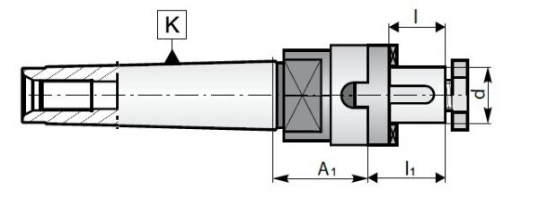 Trzpienie MK-DC | Typ 7430 - rysunek techniczny
