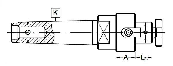 Trzpienie DIN 138   MK-DS   Typ 7432 - rysunek techniczny