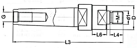 Trzpienie NFE 62-516   MK-M   TYP 7712 - rysunek techniczny