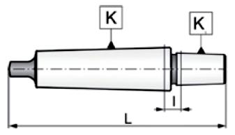 Trzpienie do uchwytów wiertarskich ze stożkiem DIN 238   MK-B   TYP 5361