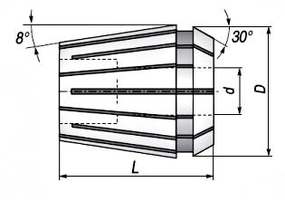 Tuleja zaciskowa ER40D26 - rysunek techniczny