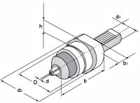 Oprawka z uchwytem VDI40.16UW - rysunek techniczny
