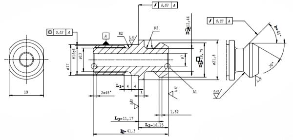 Końcówki ściągające MA - rysunek techniczny
