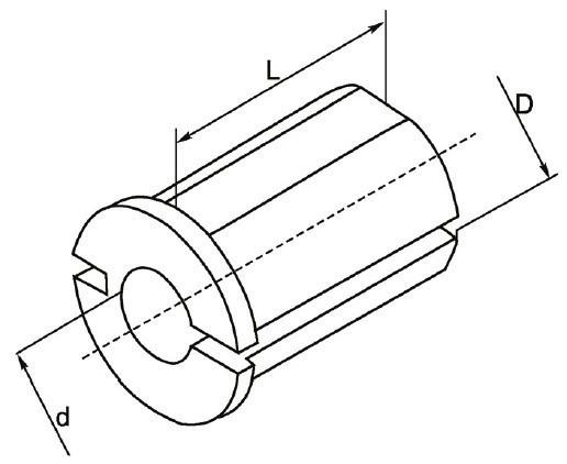 Redukcja typów cylindrycznych RW.D20.D10K - rysunek techniczny