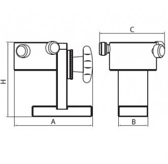 Podstawki montażowe TBAX40U - rysunek techniczny
