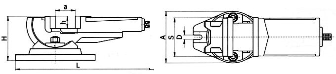 IMADŁA MASZYNOWE UCHYLNE W DWÓCH OSIACH typ APX/AUO2 (odpowiednik Bisona 6530)