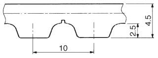Pasy zębate T2.5 T5 T10 - Pasy zębate T10