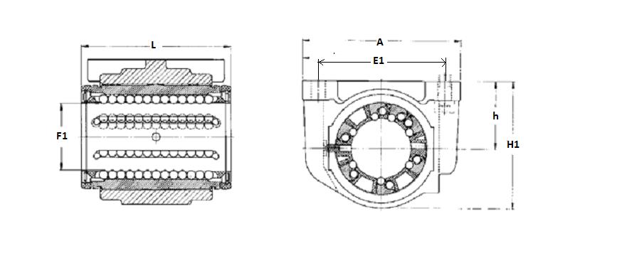 Łożyska liniowe w obudowie SKF - LUCD/LUCR