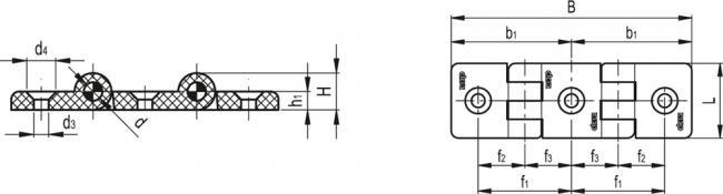 Podwójne zawiasy do profili aluminiowych CFI
