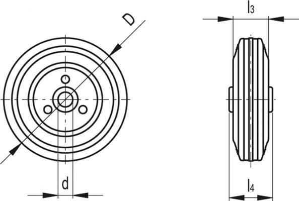 Zestawy kołowe RE.E3 z korpusem stalowym i wieńcem z gumy NBR