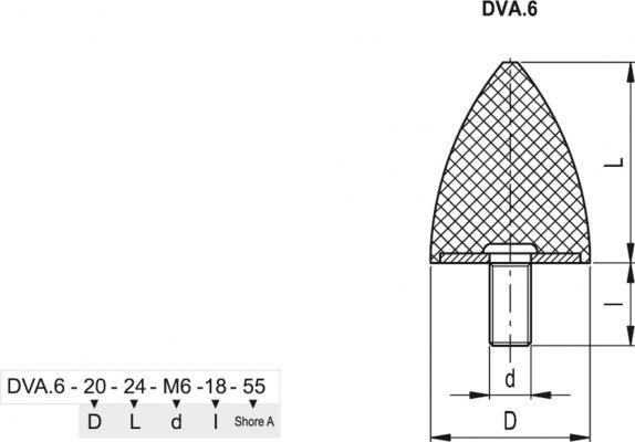 Wibroizolatory DVA.6