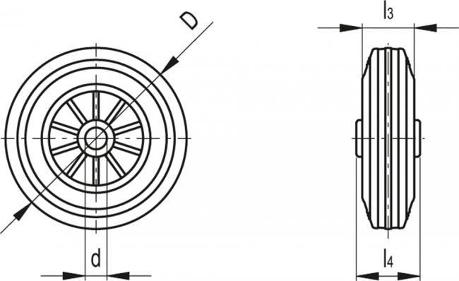 Zestawy kołowe RE.E2 - rysunek techniczny