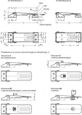 Zapięcia GN 821 - rysunek techniczny