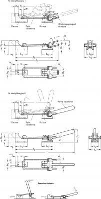 Zapięcia GN 854 - rysunek techniczny