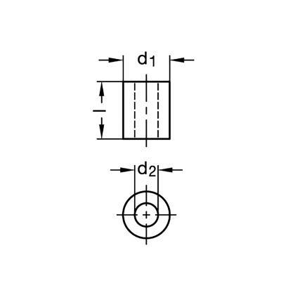 Moduły GN 910.8 - rysunek techniczny